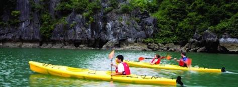 Kayaking on Lan Ha Bay