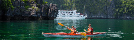 Cat Ba Kayaking at Lan Ha Bay